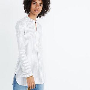 Madewell Wellspring Tunic Popover Shirt in Stripe